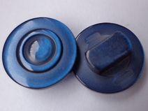 10 kleine dunkelblaue KNÖPFE 11mm (3258-5) Knopf