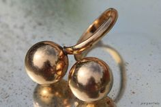 Vintage Modernist 12k Gold Filled Double Orb by Yourgreatfinds, $89.99