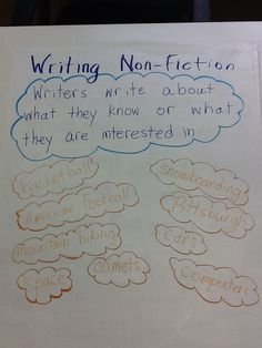 Ideas for writing non fiction