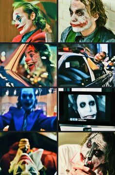 Joaquin Phoenix Heath Ledger- can find Jokers and more on our website. Gotham Joker, Joker Film, Joker Comic, Joker Heath, Joker Art, Joker And Harley Quinn, Joker Batman, The Joker, Batman Arkham
