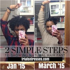 2 Simple Steps to grow natural hair fast!