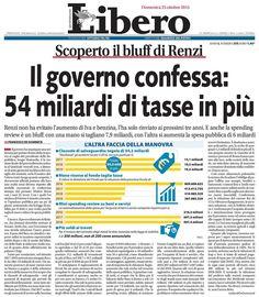 L'INDIPENDENZA DI SAN MARCO: LIBERO ANNUNCIA 54 MILIARDI IN PIU' DI TASSE! Foto...