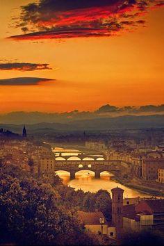 Florence at dusk, Italy Tuscany