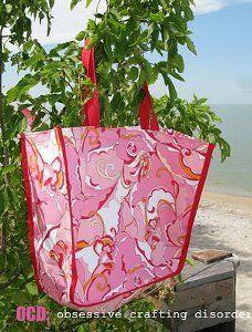 Beautiful Bias Bag | FaveQuilts.com