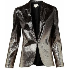 Witchery Sequin Blazer ($53) ❤ liked on Polyvore featuring outerwear, jackets, blazers, coats, blazer jacket, sequin sleeve jacket, short-sleeve blazers, fleece-lined jackets and sequin blazer jacket