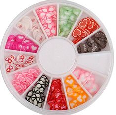 120PcsGood Popular 3D Random Mixed Fimo Nails Art Wheel Polymer Clay Slice Colorful Tool Kit Decoration Type Love >>> Check out the image by visiting the link.