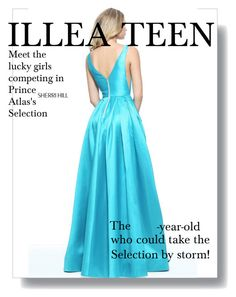 """""""Turquoise Sherri Hill 51120 A Line Long Prom Dress"""" by homecomingqueendress ❤ liked on Polyvore featuring Sherri Hill, Prom, dress, cocktail, evening and Homecoming"""