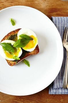 Basil Pesto & 6 Minute Egg on Toast on camillestyles #Breakfast #Egg #Toast