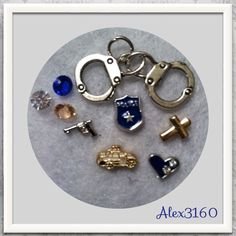 "Authentic ORIGAMI OWL CROSS charm PLUS Extras ""POLICE OFFICER"" THEME 9pc SET #ORIGAMIOWLANDNONBRANDEDCHARMMIX #FLOATINGLIVINGMEMORYLOCKETCHARMS"