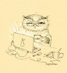 cute owl sketch!