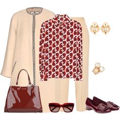 outfit 3636 by natalyag on Polyvore featuring Miu Miu, Etro, The Row, Robert Coin and Yves Saint Laurent