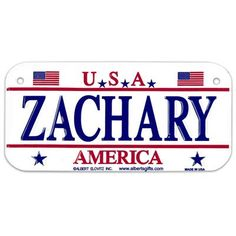 ZACHARY USA Bike Plate - Made in USA, 3'x6' Embossed Aluminum ** Click on the image for additional details.