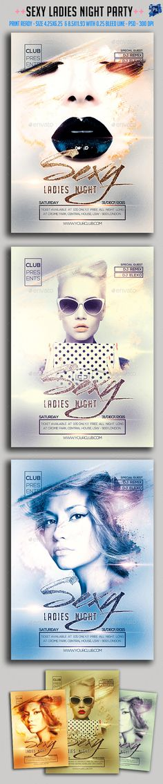 Sexy Ladies Night Flyer Template PSD #design Download: http://graphicriver.net/item/sexy-ladies-night-flyer/14034696?ref=ksioks