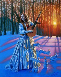 Michael Cheval Surrealist Painter WOW! Love Hunter, 2012