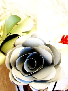 Extra Large Paper Rose by JumpingJones on Etsy, $14.99