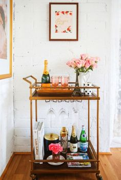 Cute bar cart styling