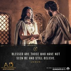 Spread The Word: the apostles witnessed a miracle when Jesus returned on Sunday's episode of A.D. The Bible Continues. | A.D. The Series