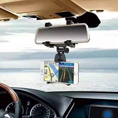 DEESEETMCar Rearview Mirror Mount Holder Stand Cradle For Cell Phone GPS >>> Check out this great product. (Note:Amazon affiliate link)