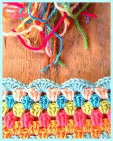 Nice colours and edging for granny blankets