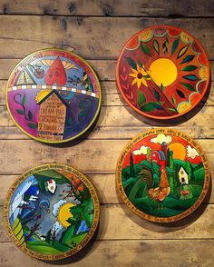 Beautiful enough to hang on your wall, but made for everyday use! Click the link to see all our in stock @sticks_inc Lazy Susan's that are still 20% off until tomorrow  #stowecraftgallery #woodburning #woodworking #handmade #handcrafted #painting #handpainted #lazysusan #colorful #seasons #landscape #vermont #home #kitchen #farmhouse