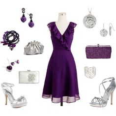 Purple look to wear to a wedding!!, created by whitnie-evans on Polyvore