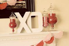 valentine mantel/decor