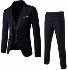 online shopping for WULFUL Men?s Suit Slim Fit One Button Suit Blazer Dress Business Wedding Party Jacket Vest &Pants from top store. See new offer for WULFUL Men?s Suit Slim Fit One Button Suit Blazer Dress Business Wedding Party Jacket Vest &Pants Mens 3 Piece Suits, Three Piece Suit, Mens Suits, Suit Men, Male Suit, Wedding Dress Suit, Wedding Suits, Wedding Groom, Boho Outfits