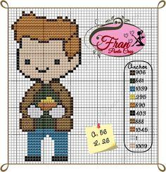 Geek Cross Stitch, Cross Stitch Patterns, Cross Stitching, Cross Stitch Embroidery, Pixel Art, Geeks, Supernatural Baby, Perler Patterns, Knitting Charts
