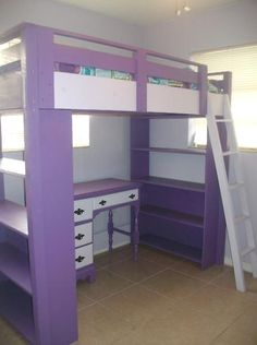 Loft Bed- need one of these- better than the last design I made