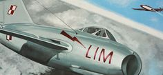 Fragment muralu z samolotem Lim; Mural, Street Art, samoloty, aircraft, airplane, Mielec, Lotnicza historia