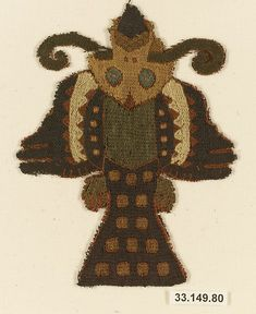 Embroidered Fragment Date: 4th–3rd century B.C. Geography: Peru Culture: Paracas Medium: Camelid hair, cotton