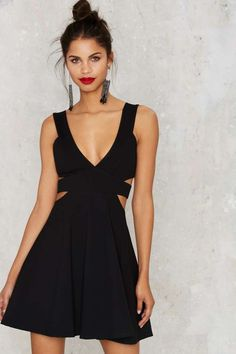 Hana Cutout Mini Dress - Best Sellers | Back In Stock | Going Out | Fit-n-Flare | LBD | Dresses