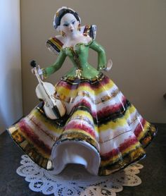 Lenci Artist Italian Beautiful Woman Lady Figurine with Violin Signed Vintage | eBay