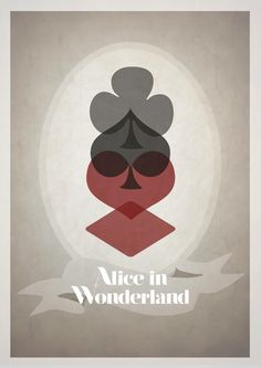 Alice in Wonderland /// From English designer Rowan Stocks Moore's series of quaint Disney film posters.