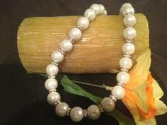 The elegance of simulated pearls with the pop of rings by Bedotted, $32.00