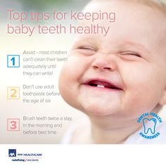 Here are some #dental tips for keeping baby teeth in top shape!  Want to see more informative and #Pinspirational dental tips?  Take a peek at #wcommunitydenta or www.wirickandassociates.com!