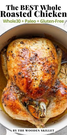 Whole Roasted Chicken is a classic, tried-and-true recipe that is perfect for a cozy night in! Easy to make and absolutely delicious. You will be coming back to this recipe again and again! It's even Whole30, Paleo and Gluten-Free. Making it the best way to meal prep your chicken.
