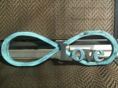 Rustic  wedding or home decor wood infinity & love sign on Etsy, $32.00