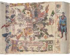 Fig. 1f. Enrique Chagoya, detail of Tales from the Conquest/Codex (1992). ©Enrique Chagoya.