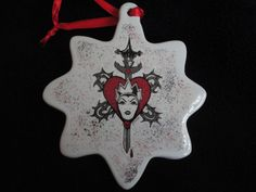 Disney Villains EVIL Queen from Snow White ornament two sided by ImAsMADaSaHaTTeR, $10.00