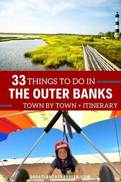 Here you'll find a bucket list of things to do in Outer Banks, and we organize the list by Outer Banks' towns. But don't fret, we won't leave you hanging when it comes to making a plan. You are also able to access our 5-day itinerary which breaks down step-by-step plans to maximize your stay here (just click the link or send me an email.) Whether you prefer water sports, beach lounging, or indulging in those special things that only The Outer Banks can offer – we've got you covered. Travel With Kids, Family Travel, Roanoke Island, North Carolina Vacations, Beach Bonfire, Visit Florida, Travel Usa, Travel Tips, Travel Destinations