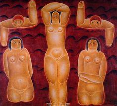 Baigneuse [As Nadadoras] 1924 | Vicente do Rego Monteiro óleo sobre tela, c.i.d. 80.50 x 90.50 cm Coleção Gilberto Chateaubriand - MAM RJ