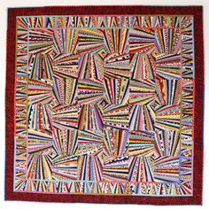 Fandango Quilt Pattern, Art Quilt, Wall Quilt, String Quilt, Scrap Quilt, 66 x 66, You Can Do This! qtm  It looks hard but its not. You can do