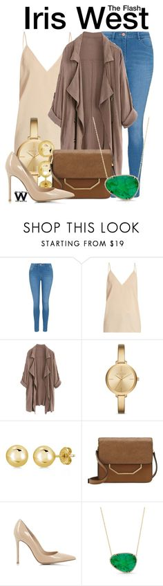 """The Flash"" by wearwhatyouwatch ❤ liked on Polyvore featuring George, Raey, Michael Kors, BERRICLE, Louise et Cie, Gianvito Rossi, Anne Sisteron, television and wearwhatyouwatch"