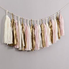 Baby Pink Handcut Tassel Garland by Bubblegum Balloons, the perfect gift for Explore more unique gifts in our curated marketplace. Metallic Balloons, Large Balloons, Giant Balloons, Helium Balloons, Balloon Tassel, Tassel Garland, Tassels, Garlands, Bubblegum Balloons