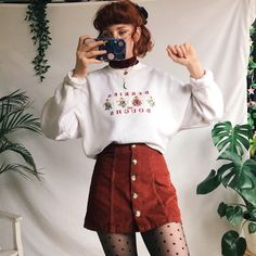 Oh my goshhh how adorable?!? Beautiful vintage Christmas in - Depop Indie Outfits, Retro Outfits, Cute Casual Outfits, Fashion Outfits, Vintage Hipster Outfits, Hipster Clothing, Summer Outfits, Vintage Clothing Styles, Soft Grunge Outfits