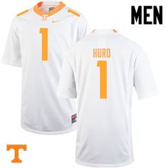 dd945d1da Men  1 Jalen Hurd Tennessee Volunteers College Football Jerseys-White
