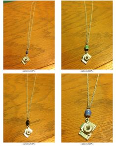 Camera Pendant Necklaces by CandyBuckinghams on Etsy, $13.00