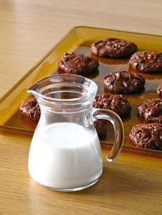 GF, DF, Chocolate Puddle Cookies  Maybe sub almonds for walnuts