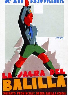 Opera Nazionale Balilla (ONB), 1933. An Italian Fascist youth organization functioning 1926-1937, when it was absorbed into the Gioventù Italiana del Littorio (GIL), a youth section of the National Fascist Party.